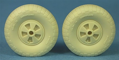 Ultracast 48246 - De Havilland Mosquito Spoked Wheels (block tread)