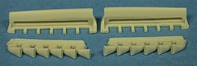 Ultracast 48262 Spitfire Mk IX Flared Exhausts (fits Eduard Spitfire Mk IX kits)