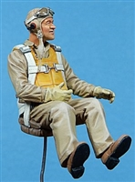"Ultracast 54015 - WWII USMC Seated Fighter Pilot, Gregory ""Pappy"" Boyington (designed for Tamiya Corsair kits)"