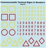 Ultracast D35011 - Commonwealth Tactical Signs & Numbers, Part 2