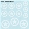 Ultracast D35012 - Allied Vehicle Stars, WWII Armour Decals