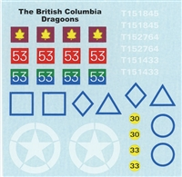 Ultracast D35016 - The British Columbia Dragoons, NW Europe 1944-45, Canadian Armour Decals, WWII