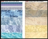 "Uschi 1019 - Marble Decal ""Blue & Beige"""