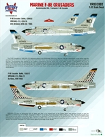 Victory Productions VPD32002 - Marine F-8E Crusaders (for Trumpeter F-8E kit)