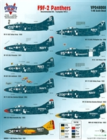Victory Productions VPD48008 - F9F-2 Panthers (for Trumpeter F9F-2 kits)