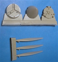 Vector VDS48-075 - P-40E/N Propeller & Spinners (fits Hasegawa / Mauve / Eduard / AMT / Italeri kits)