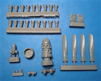 Vector VDS48-087 - P-47N Corrected Engine, Propeller & Exhaust Vents (fits Academy kits)