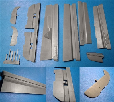 Vector VDS48-091 - Bf 110C/D/E Flaps, Control Surfaces and Short Tail (for Cyber Hobby kits)