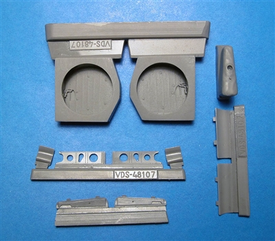 Vector VDS48-107 - P-40E/N Wheel Wells with Canvas (for Hasegawa kit)