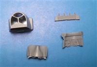 Vector VDS48-108 - P-40E/N Radiator Housing (for Hasegawa kit)