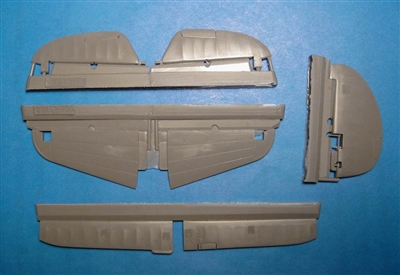 Vector VDS48-109 - P-40E/N Control Surfaces (for Hasegawa kit)