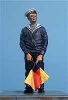 Wee Friends 35045 - WWII British Royal Navy Signaller with Semaphore Flags