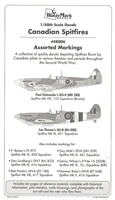 WaterMark 48006 - Canadian Spitfires, Assorted Markings