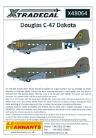 Xtradecal X064-48  Douglas C-47 Dakota