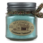 Caribbean Teakwood Scented Soy Candle