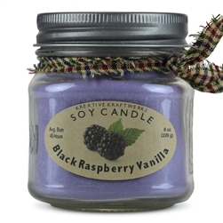 Black Raspberry Vanilla Soy Candle