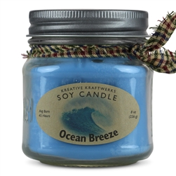 Ocean Breeze Scented Soy Candle
