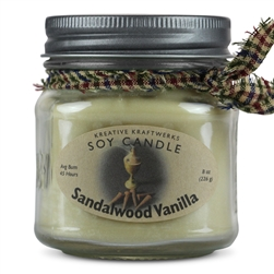 Sandalwood Vanilla Scented Soy Candle