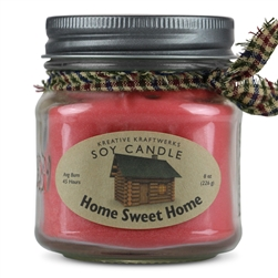 Soy Candle Scented in Home Sweet Home