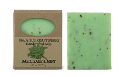 Basil, Sage & Mint Soap