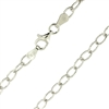 Sterling Silver diamond cut Rhodium Finish 4mm by 6mm rolo Chain with a spring ring clasp