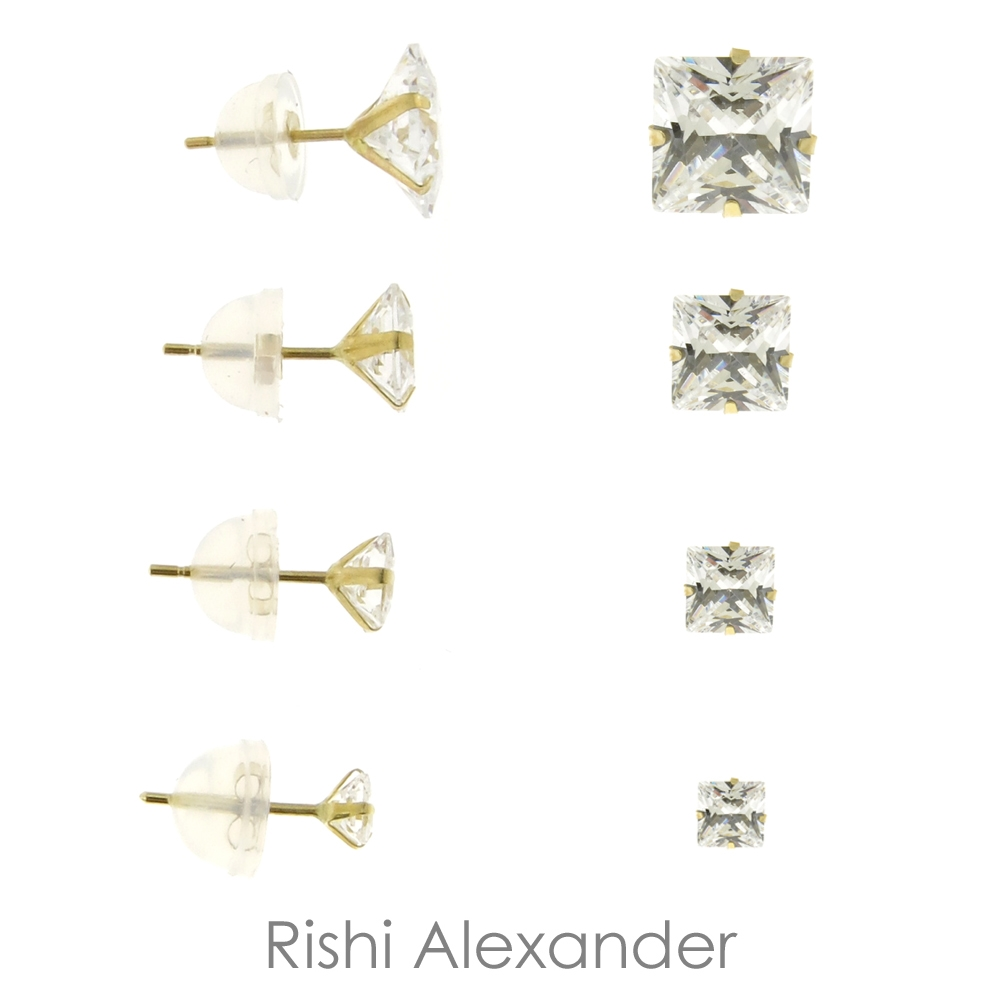 Ball Stud Earrings That Are Made Form Solid 14kt Gold That Sizes 2mm