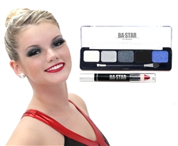 Midnight Smoky Eye & Lip Makeup Kit (2-Piece)