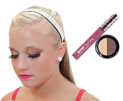Natural Eye Shadow Duo & Smudge Proof Pink Lip Paint