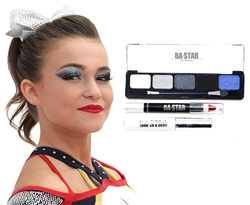 Gabi Blue Midnight Smoky 3-Piece Cheer Makeup Kit