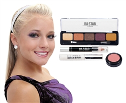 Addison Spicy Natural with Purple 4-Piece Dance Makeup Kit