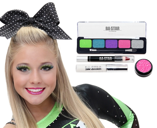 Cheer Makeup Kits With Lime Purple And Pink Are A