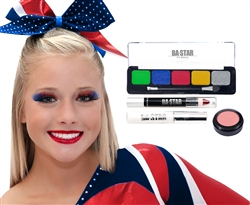 Addison Spirit All Star Cheer Makeup Kit 4 pc