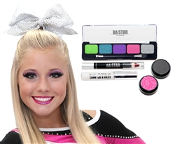 Addison Tropical & Charcoal 5-Piece Cheer Makeup Kit