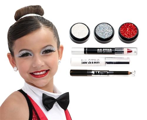 Ava Holo Silver Glitter Makeup Kit Piece