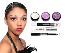 Chalyon Purple Stardust 6 Piece Dance Makeup Kit