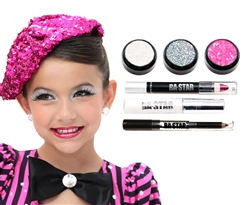 Ava Holo Silver Glitter 6-Piece Dance Makeup Kit