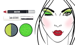 Cutie! So Sassy Duo Shadow + Lime Green Glitter
