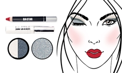 Glitter & Matte So Sassy + Holo Silver Makeup Kit 4 Pc