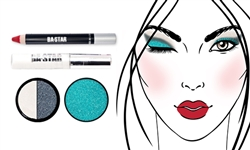 Glitter & Matte So Sassy+ Columbia Blue Glitter Makeup Kit 4 pc