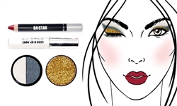 Glitter & Matte, So Sassy + Gold Glitter Makeup Kit 4 PC