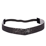 Glitter Head Band- Black