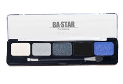 Midnight Smoky Eye Shadow Palette. 5 Colors for the Perfect Smoky Eye. Colors Range from Deep Charcoal to Brilliant Diamond.