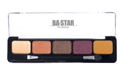 Spicy Natural Eye Shadow Palette. 5 Warm Eye Shadow Shades from Nude to Chocolate