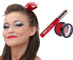 Red Glitter Lips Smudge Proof Lip Paint & Glitter