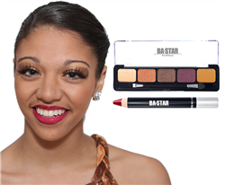 Natural Eye Shadow and Cranberry Lip Pencil