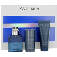 771162 CK ETERNITY AQUA MEN 3 PIECE GIFT SET