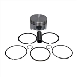 Piston, 72mm, Flat Top, Cast, .570 Height, with Rings & Pin