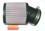 "Air Filter, K&N, Open Element, Angled, 3.75"" x 4"", Large Opening"