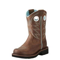 Ariat® Girls' ProBaby Brown Round Toe Boots
