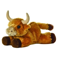 Little Toro the Stuffed Bull Mini Flopsie